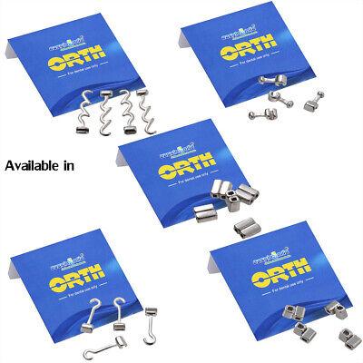 10pcs Easyinsmile Dental Orthodontic Crimpable Hooks Cross Double Sliding Hooks
