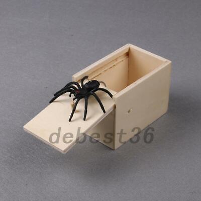 Halloween Box Scare (Halloween Wooden Prank Jumper Spider Scare Box Surprise Joke Horror Funny)
