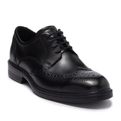 Ecco Men's Lisbon Wingtip Brogue Tie Oxford Leather Business Dress Shoe -