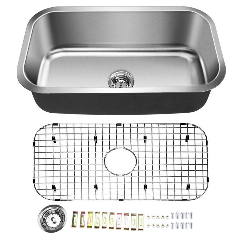 "Topbuy 31"" Under-mount Single Bowl Stainless Steel Kitchen Sink"