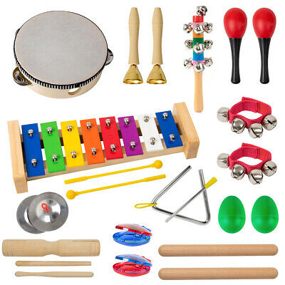 Orff Toy Toddler Musical Instruments Toys Set for Kids Baby Percussion 12 Piece