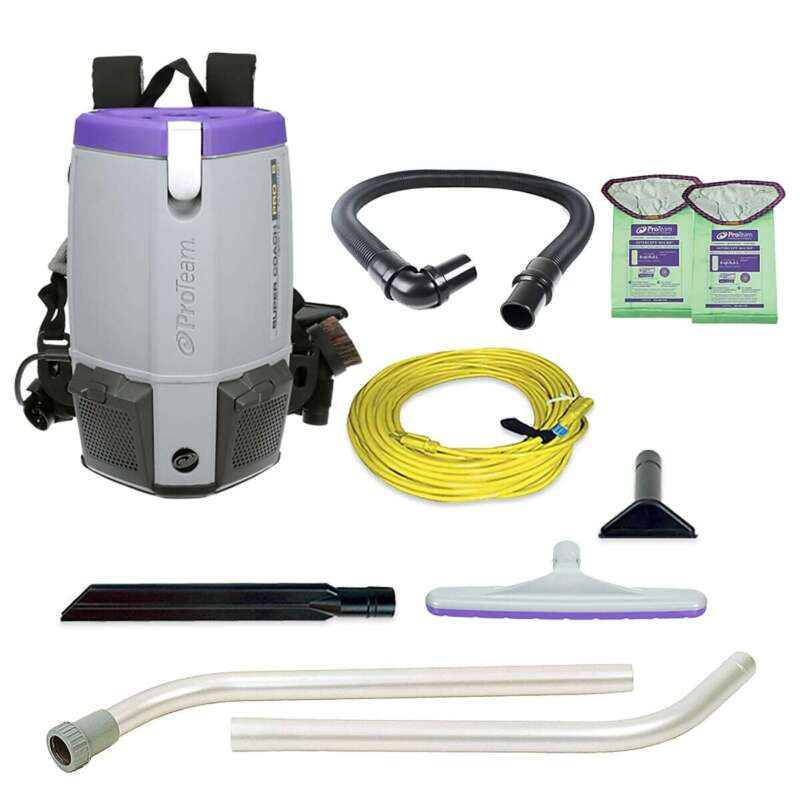 ProTeam Super Coach Pro 6 Backpack Vacuum 107308