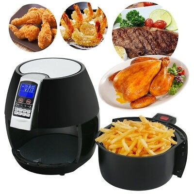 Купить Unbranded - 1500W LCD Electric Air Fryer W/ 8 Cooking Presets, Temperature Control, Timer