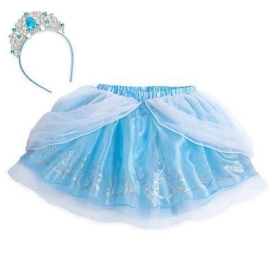 Disney Authentic Cinderella Tutu Set w/ Headband Tweens Size 9/10 11/12 13/14 ()