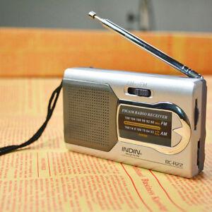 Portable Radio Mini AM/FM Telescopic Antenna Radio Pocket World Receiver DC 3V
