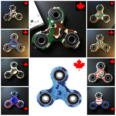 Fidget Spinner -Camo / Flag - Fun Hand Toy- Many Designs