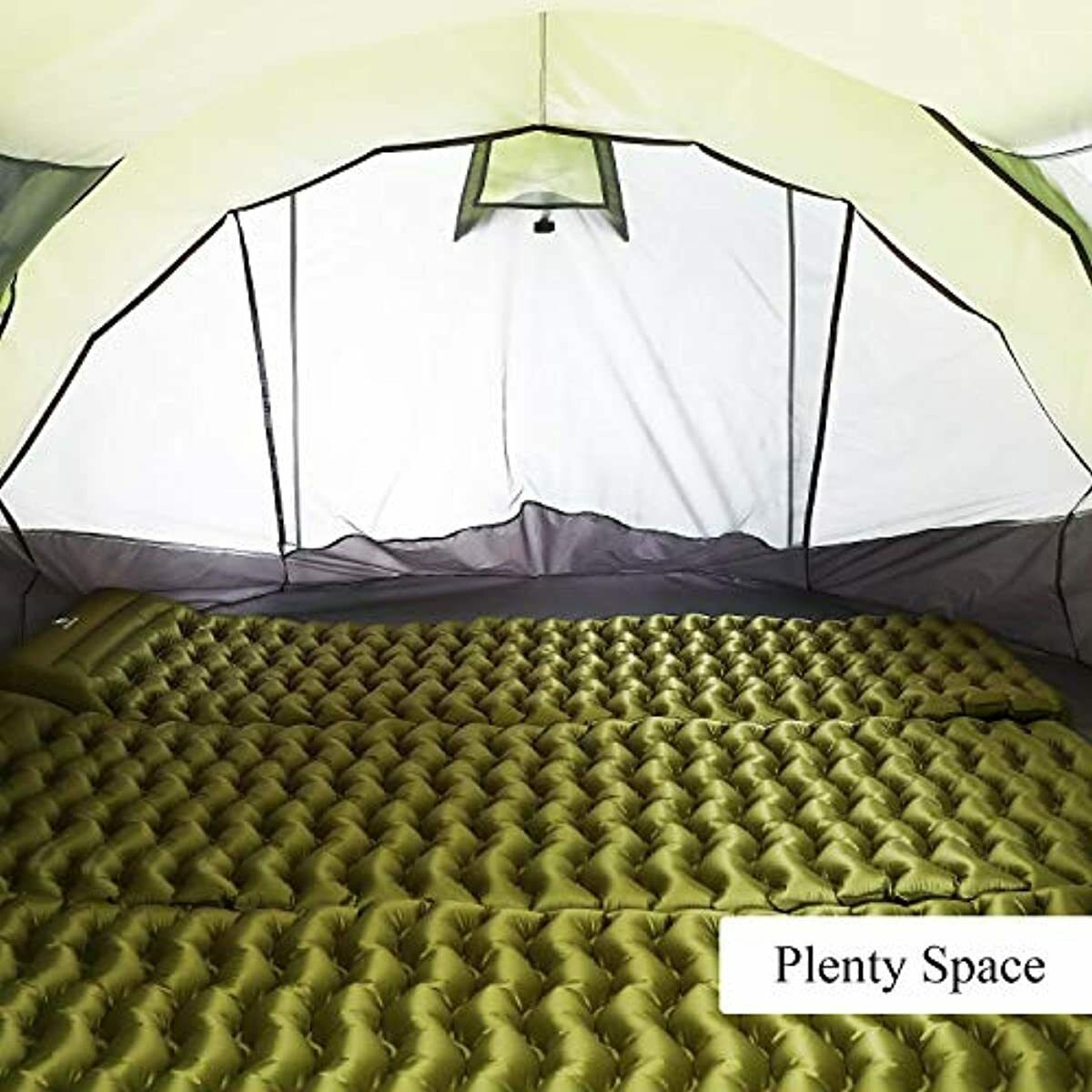 6 Person Easy Up Setup, Double Layer Instant Tents