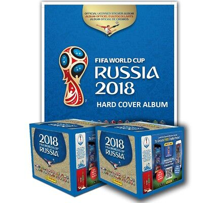 Panini  2018 FIFA World Cup Russia HARD COVER ALBUM + 2 Boxes FREE SHIPPING