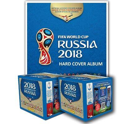 Panini  2018 Fifa World Cup Russia Hard Cover Album   2 Boxes Free Shipping