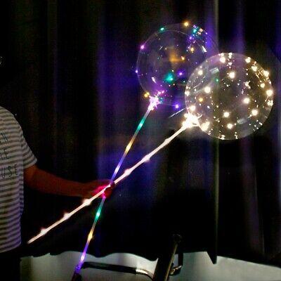 20'' Light Up Balloons Luminous Glow In The Dark Wedding Birthday Party Decor (Glow In The Dark Party Decor)