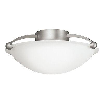 (Kichler Lighting 8405NI 2-Light Semi-Flush Ceiling Light, Brushed Nickel)