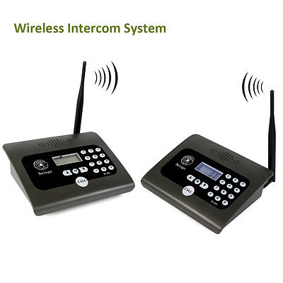 2X Wireless 2Way Desktop Radio Full Duplex Indoor Voice Calling Intercom System