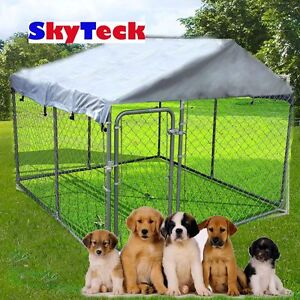 RUST PROOF STEEL PET DOG CAGE HOUSE 4x2.3x1.82m Geelong Geelong City Preview
