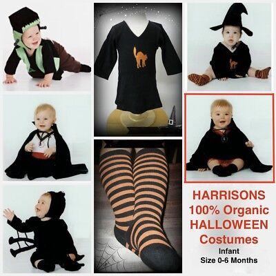 NEW 100% Cotton Harrison's VAMPIRA Infant Baby Halloween Costume 0-6Mos NWT - Harrison Halloween
