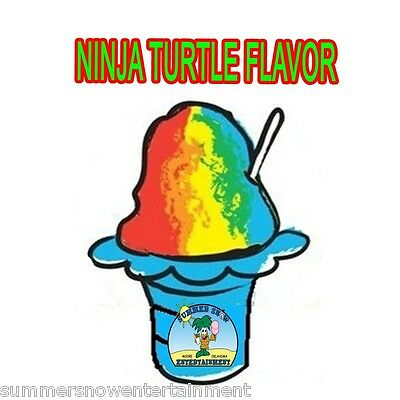 Ninja Turtle Mix Snow Coneshaved Ice Flavor Quart 1 Concession Supplies