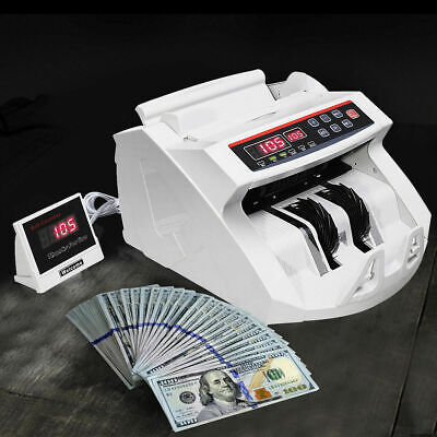 New Money Bill Counter Counting Machine Counterfeit Detector Uv Mg Cash Bank
