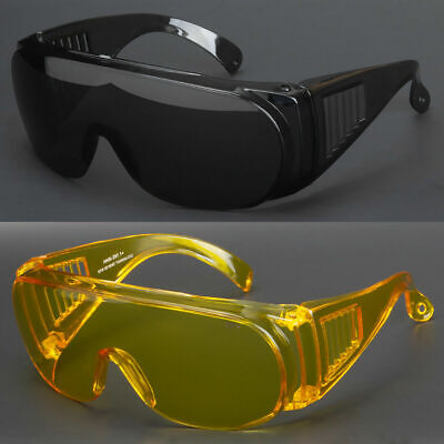 New Extra Large Fit Over Most Rx Glasses Sunglasses Safety Super Dark Lens (Sunglass Over Glasses)