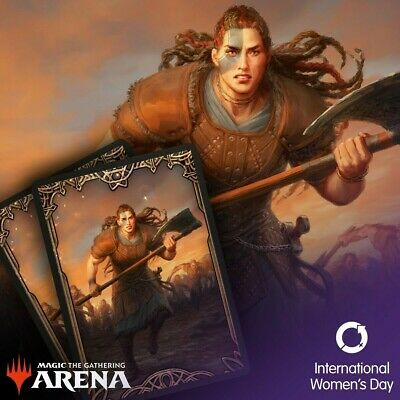 Secret Lair MTG Arena International Women's Day 2020 Sleeves (Redemption CODE)