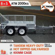 8×5 Tandem Heavy Duty Welded Galvanised Box Trailer 600mm Cage Fairfield East Fairfield Area Preview
