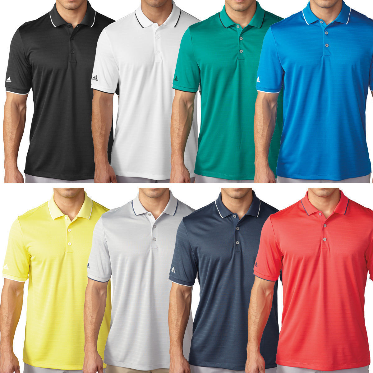 sports shoes c3693 aa6b3 Details about Adidas Golf Mens ClimaCool Tipped Club Performance Golf Polo  Shirt