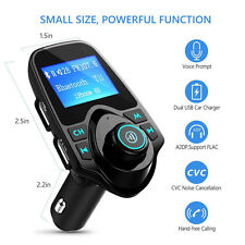 New Wireless LCD Bluetooth Car Kit MP3 FM Transmitter AUX USB Charger Handsfree