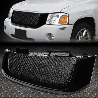 02-08 GMC ENVOY BLACK FRONT HOOD BUMPER BENTLEY STYLE GRILL/GRILLE COVER GUARD