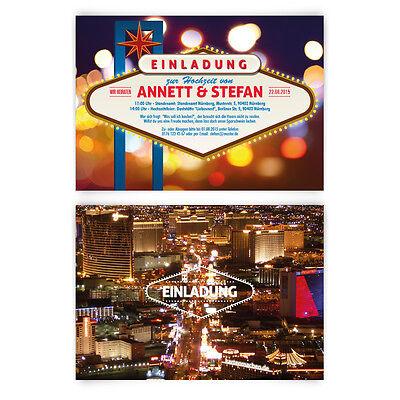 Las Vegas Poker Casino Roulette bei Nacht Einladungskarten (Casino Einladungen)