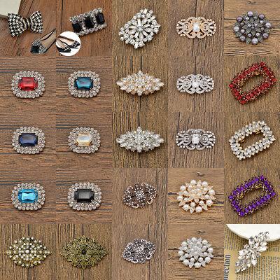 1pc Crystal Shoe Charm Jibbitz Clip Bridal Shoes Decor Rhinestone Removable ()