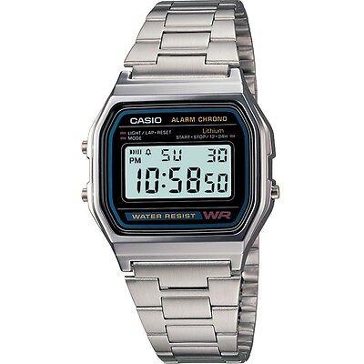 CASIO A158WA-1DF,Uhr,Silber,Illuminator,digital retro vintage,Casio Collection online kaufen