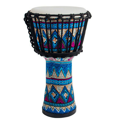 Djembe African Drum 8 Inch Blue Goat Skin Drum Head