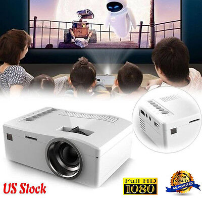 1080P HD LED Home MulitMedia Theater Cinema USB TV VGA SD HDMI Mini Projector