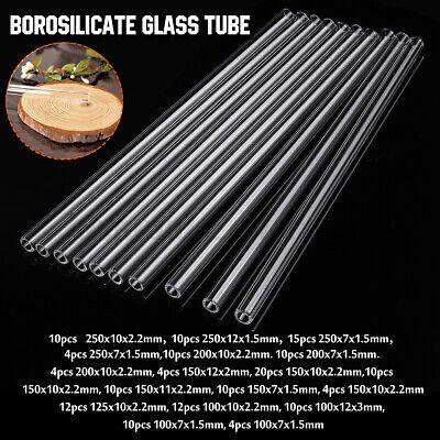 18 Types 4-20pcs 100-250mm Thick Wall Borosilicate Glass Blowing Tube Pyrex