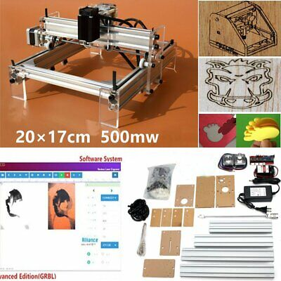 500MW Mini Laser Cutting Engraving Machine Printer Kit Desktop 20x17cm DIY  for sale  Shipping to Nigeria