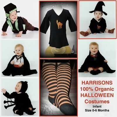 NEW 100% Cotton Harrison's WITCHY WITCH Infant Baby Halloween Costume 0-6Mos - Harrison Halloween