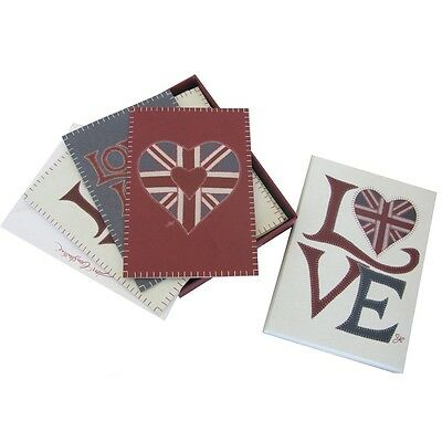 Jan Constantine Union Jack Fab Love 15 Notecards with Envelopes - 3 Designs NEW