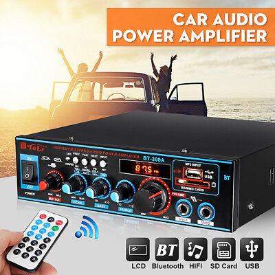 800W HIFI Digital Bluetooth Stereo Audio Amplifier SD FM Radio Mic Car Home UK