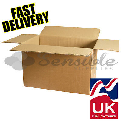 10 x LARGE SINGLE WALL REMOVAL STORAGE MOVING POSTAL CARTONS 22x14x14