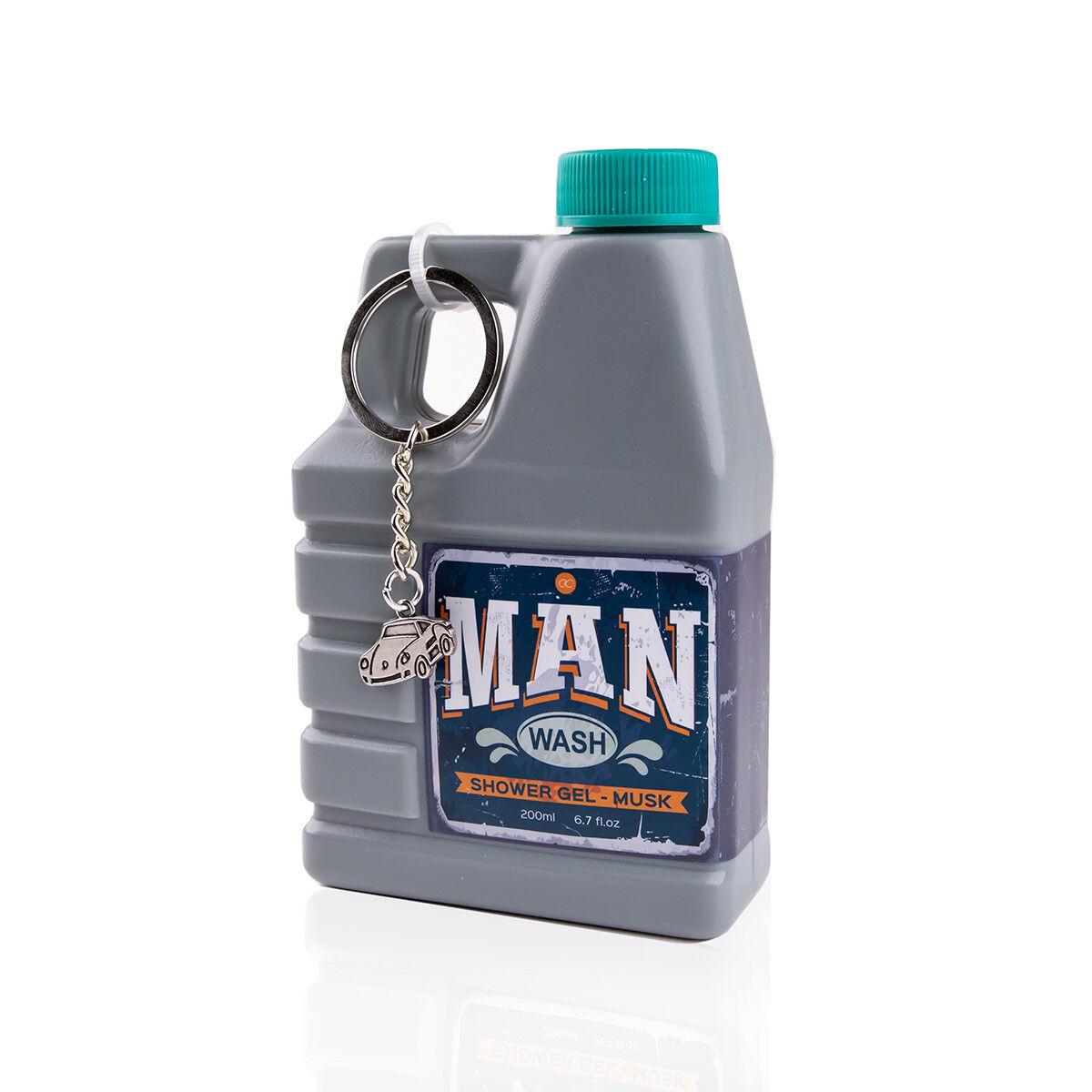 Duschgel für Männer im Motoröl Deko-Kanister 200ml mit Schlüsselanhänger Auto