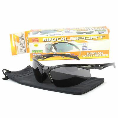 Retro Men Wrap Bifocal Tinted Sun Reader Reading Sunglasses Uv400 (Tinted Sunglasses For Men)