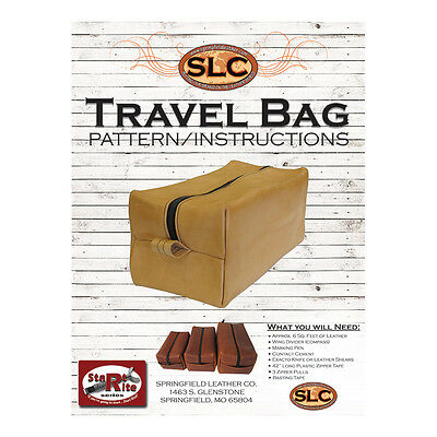 Springfield Leather Company Travel   Toiletries   Accessories Travel Bag Pattern