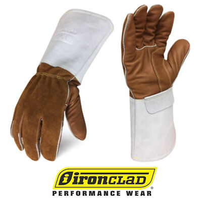 Ironclad Grain Leather Welding Gloves Exo2 Mig Welder Gloves - 12 Pair Bulk Case