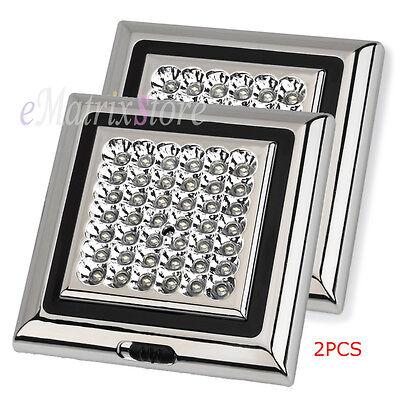 2PCS 42 LED DC 12V Car Van Roof Interior Lighting Truck Lam Vehicle Ceiling Dome