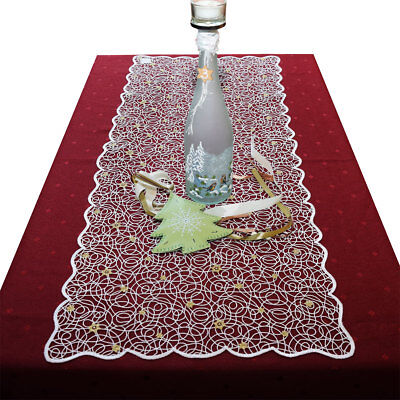 en Plauener Spitze hochwertige Stickerei-Tischdekoration (Weihnachts-tischdecken)