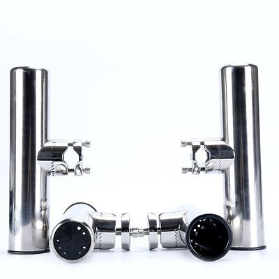 AM - Stainless Clamp On Boat Fishing Rod Holder For Rails Mount 7/8