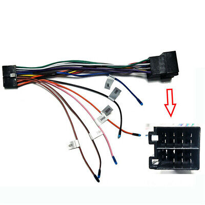 Car Stereo 20PIN ISO Wiring Harness Connector Adapter For ISO Wiring Android DVD