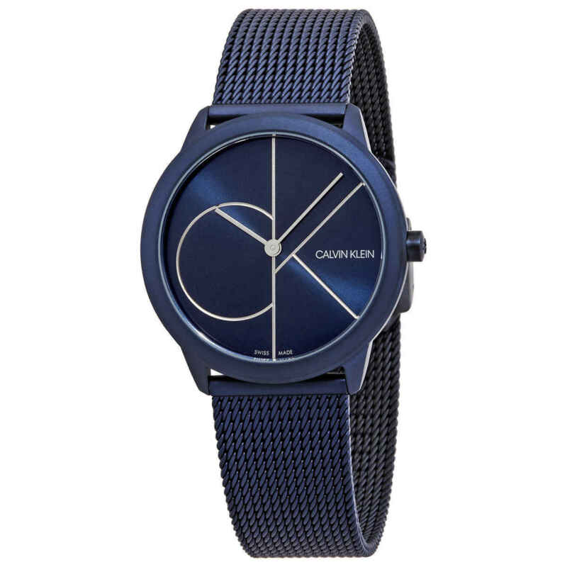Calvin Klein Minimal Quartz Blue Dial Ladies Watch K3M52T5N