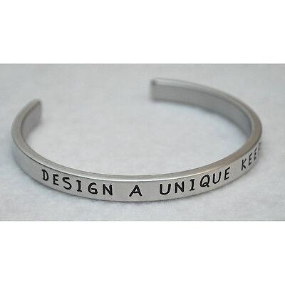 (Design A Unique Keepsake   Engraved Handmade Bracelet by: Say It and Wear It)