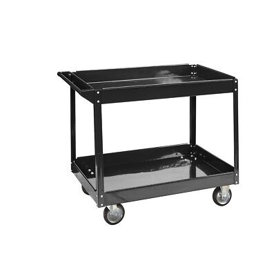 Utility Tool Storage Rolling Push Shop Cleaning Cart Steel Service Maintenance