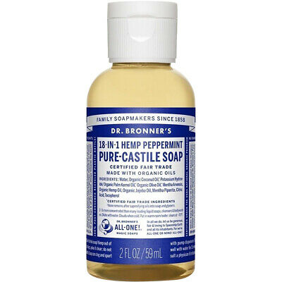 Dr. Bronner's Magic Soaps 18-in-1 Hemp Peppermint 2 oz. Pure-Castile Soap