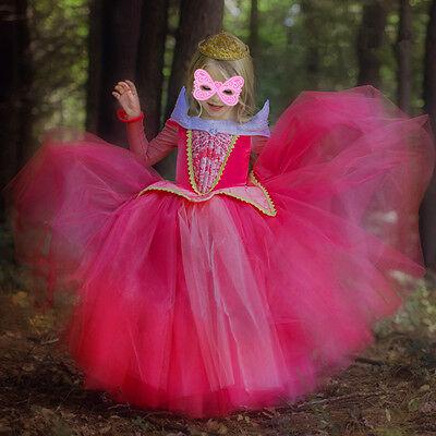 Halloween Princess Wonderland Sleeping Beauty Fancy Dress Costume Aurora Outfit